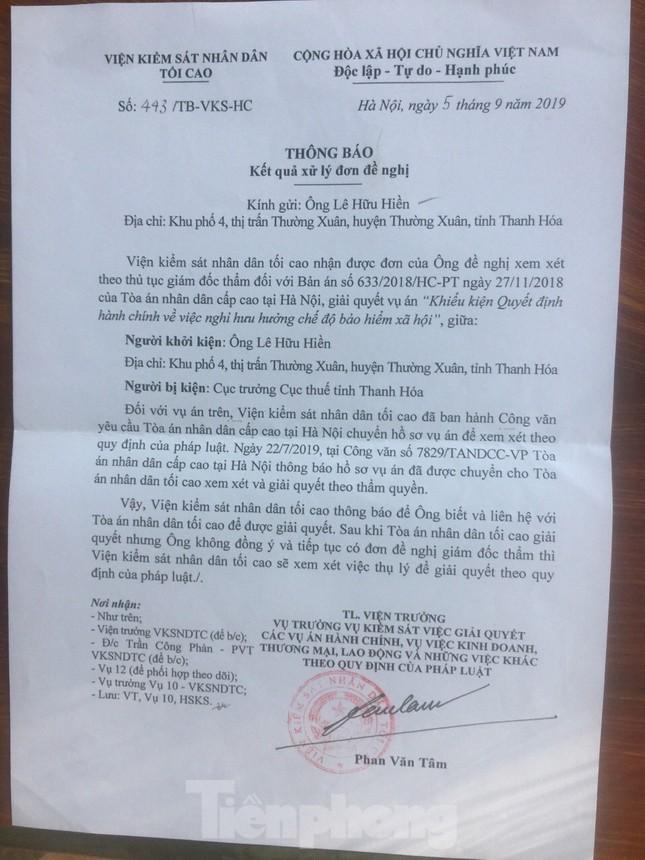 Người kiện Cục trưởng Cục thuế Thanh Hóa bị xóa tên khỏi danh sách đảng viên ảnh 1