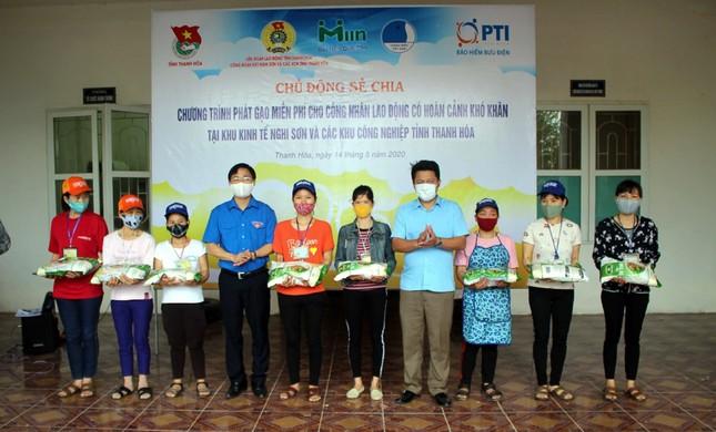 Tỉnh đoàn Thanh Hoá hỗ trợ gạo cho 1.000 công nhân ảnh 1