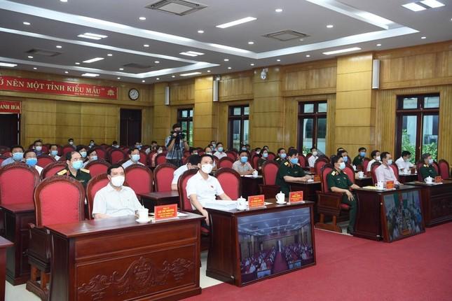 Đại tướng Lương Cường tiếp xúc cử tri, vận động bầu cử tại Thanh Hóa ảnh 2
