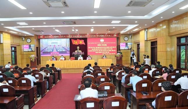 Đại tướng Lương Cường tiếp xúc cử tri, vận động bầu cử tại Thanh Hóa ảnh 3
