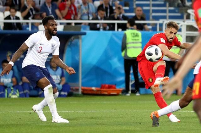 Tuyển thủ Bỉ suýt 'vỡ mặt' vì ăn mừng bàn thắng ảnh 2