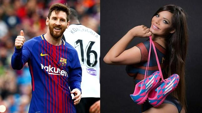 Messi 'tha thứ' cho người đẹp siêu vòng 3 ảnh 1
