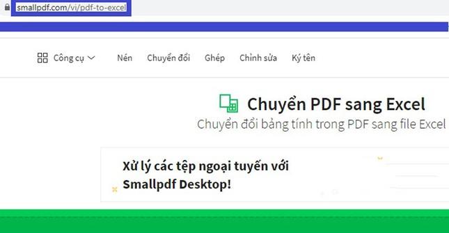 Hướng dẫn chuyển đổi file PDF sang Excel không cần phần mềm ảnh 1