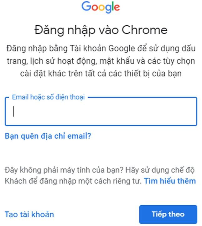 Hướng dẫn bật tính năng đồng bộ hóa trên Google Chrome ảnh 3
