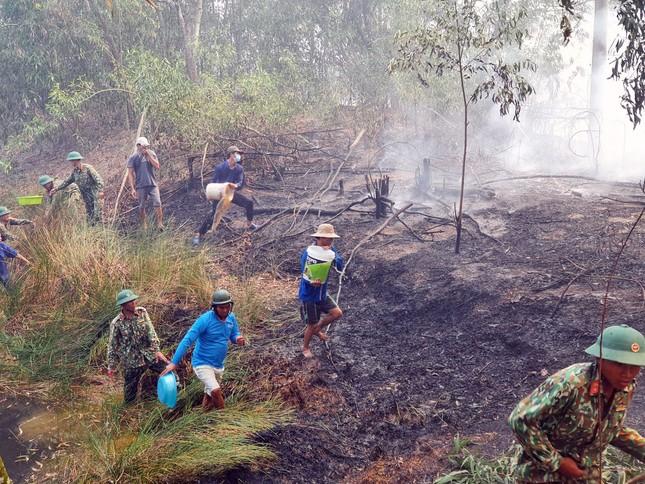 Cháy lớn thiêu rụi hàng chục héc ta rừng tràm ở Kiên Giang ảnh 1