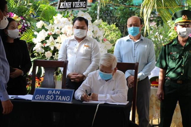 Xúc động dòng sổ tang tưởng nhớ, tiễn biệt nguyên Phó Thủ tướng Trương Vĩnh Trọng ảnh 4