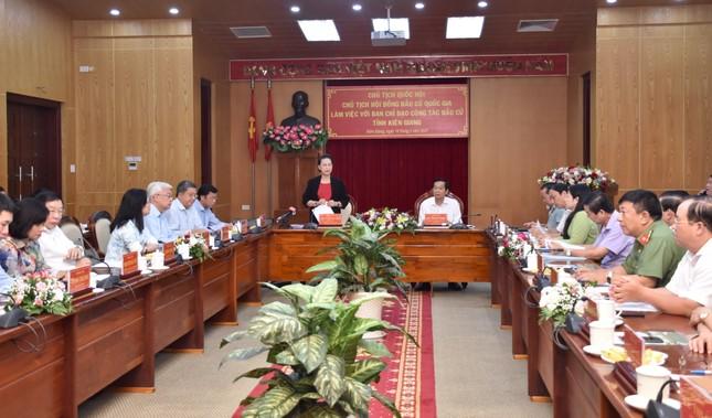 Chủ tịch Quốc hội làm việc với Ban Chỉ đạo công tác bầu cử tỉnh Kiên Giang ảnh 1