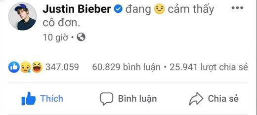 """Justin Bieber """"đang cảm thấy cô đơn"""" chính là """"miếng thính"""" về ca khúc mới """"Lonely"""" ảnh 1"""