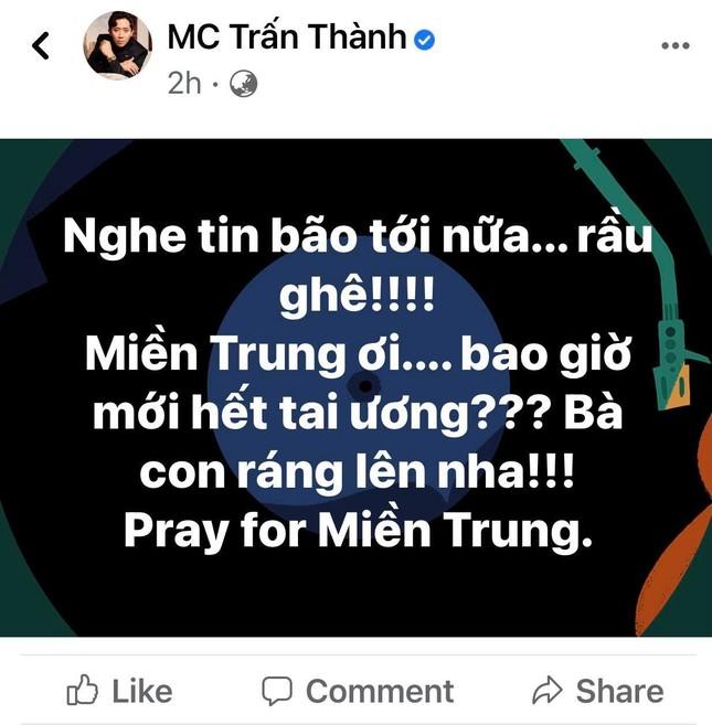 Trấn Thành, Bảo Thy, Đại Nghĩa và nhiều sao Việt một lòng hướng về miền Trung mùa bão lũ ảnh 1