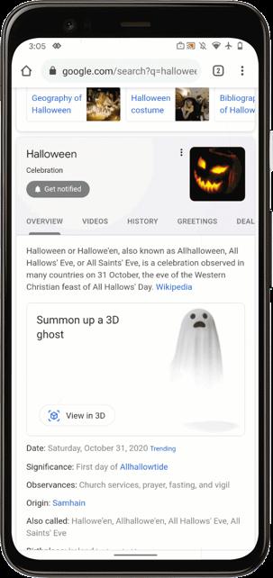 Google tung đủ trò giải cứu mèo ma thuật, kể chuyện ma cho người dùng chơi Halloween ảnh 2