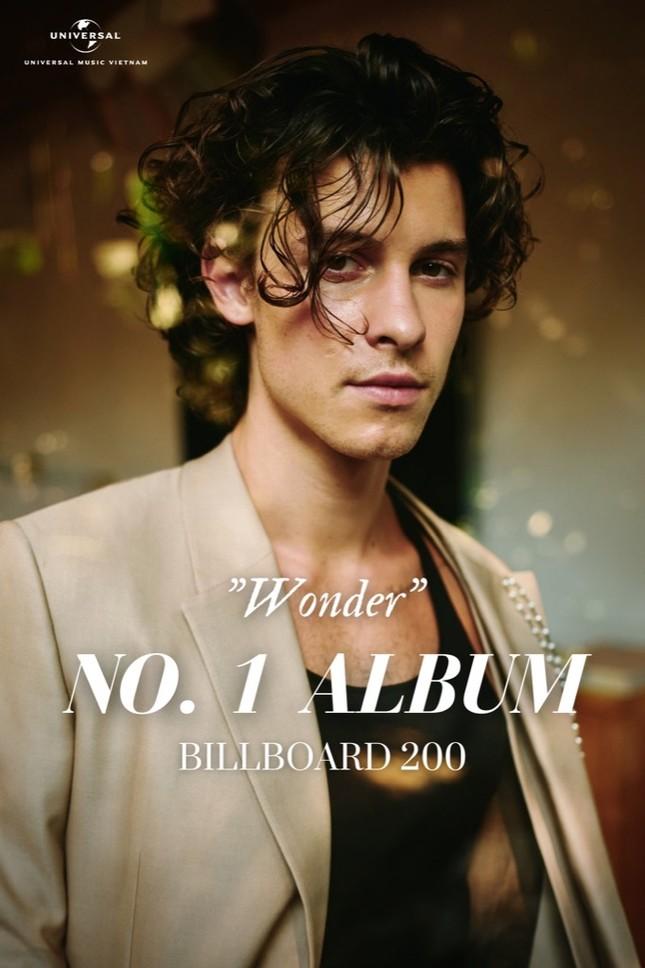 """Shawn Mendes xuất sắc """"ôm trọn"""" vị trí No.1 Billboard thứ 4 cùng album """"Wonder"""" ảnh 1"""