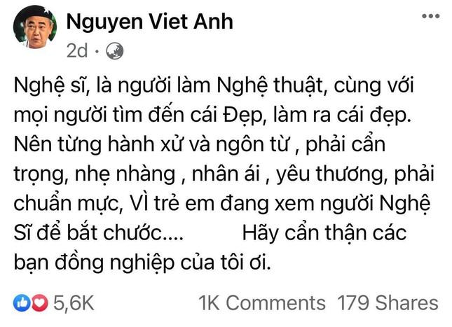 Diễn viên Cát Phượng gây tranh cãi khi phản pháo gay gắt lời nhắc nhở của NSND Việt Anh ảnh 1
