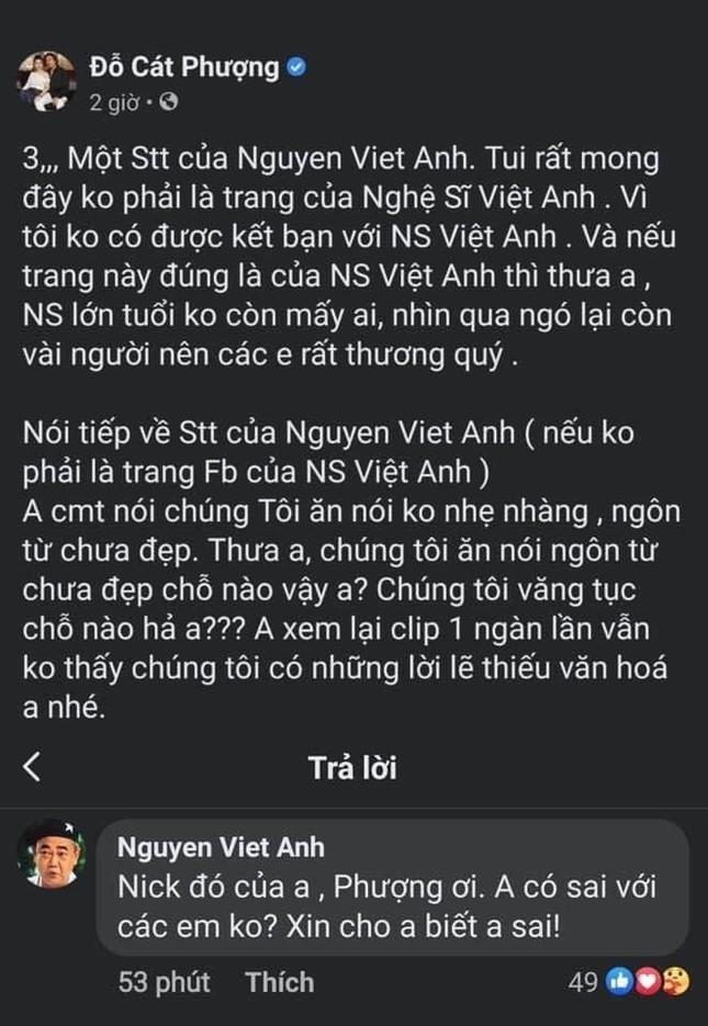 Diễn viên Cát Phượng gây tranh cãi khi phản pháo gay gắt lời nhắc nhở của NSND Việt Anh ảnh 4