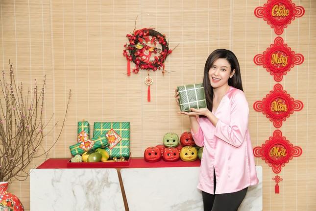 Mẹ con Trương Quỳnh Anh cùng nhà Xuân Lan, Thân Thúy Hà gói bánh chưng đón Tết ảnh 5