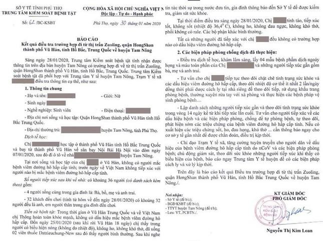 Sở Y tế Phú Thọ trả lời về thông tin có người bệnh nghi nhiễm virus corona ảnh 1
