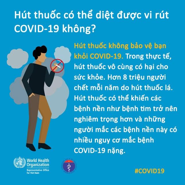 Chuyên gia y tế giải đáp thông tin 'hút thuốc lá diệt chết được Covid-19' ảnh 1