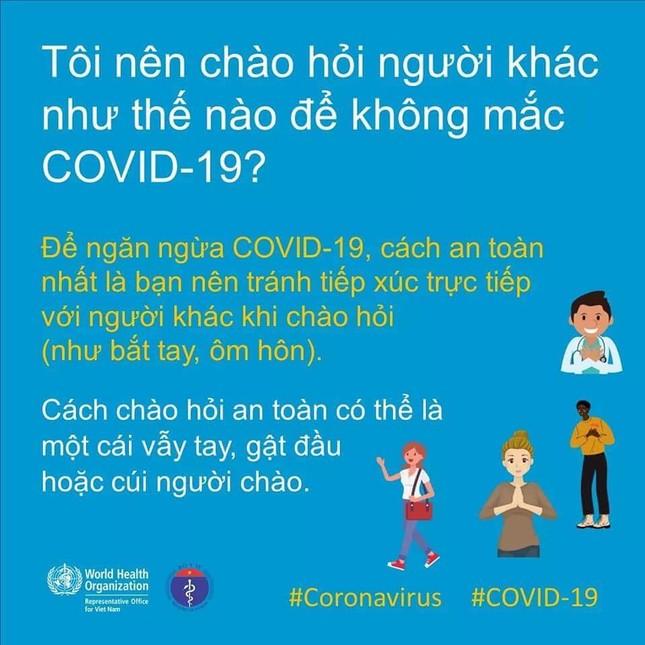 Tổ chức Y tế Thế giới khuyến cáo cách giao tiếp chống Covid-19 ảnh 2