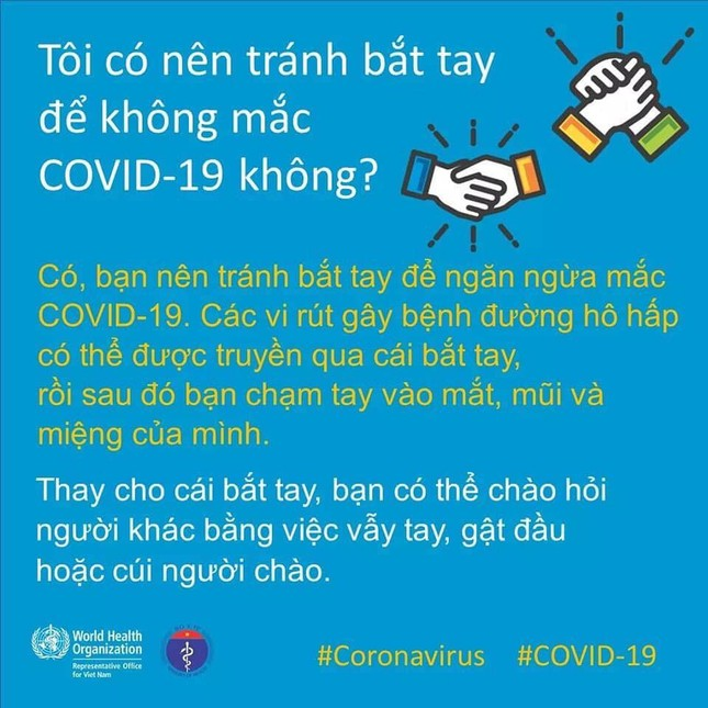 Tổ chức Y tế Thế giới khuyến cáo cách giao tiếp chống Covid-19 ảnh 3
