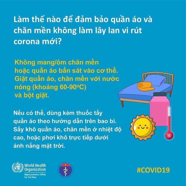 WHO hướng dẫn cách tránh lây nhiễm Covid-19 vào chăn màn, quần áo ảnh 1