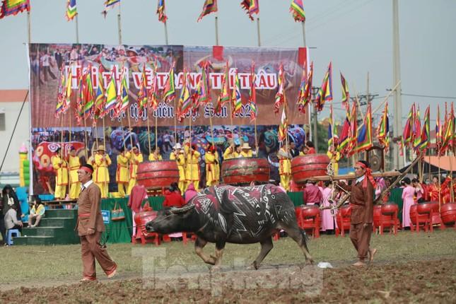 Người dân đeo khẩu trang xem 'Vua' đi cày khai hội Tịch điền Đọi Sơn ảnh 10