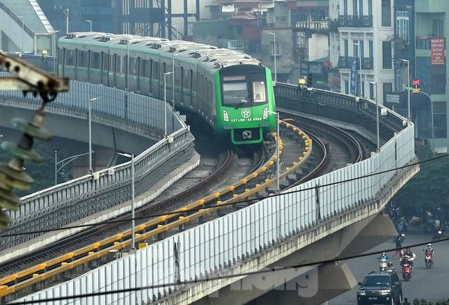 9 đoàn tàu đường sắt Cát Linh - Hà Đông đồng loạt chạy thử ảnh 9
