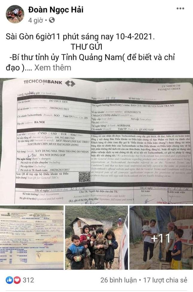 Ông Đoàn Ngọc Hải đòi lại tiền xây nhà cho người nghèo ở Quảng Nam, An Giang ảnh 1