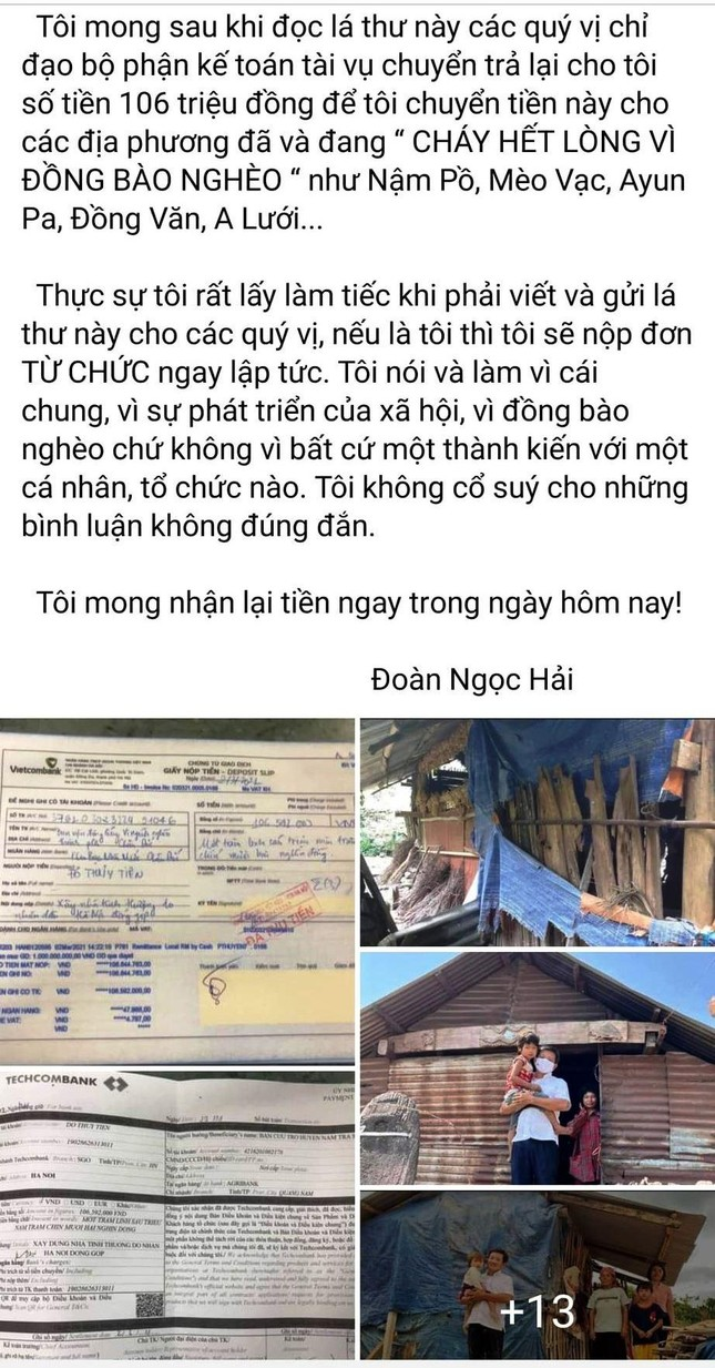 Ông Đoàn Ngọc Hải đòi lại tiền hỗ trợ người nghèo: Chủ tịch tỉnh Quảng Nam chỉ đạo làm rõ ảnh 1