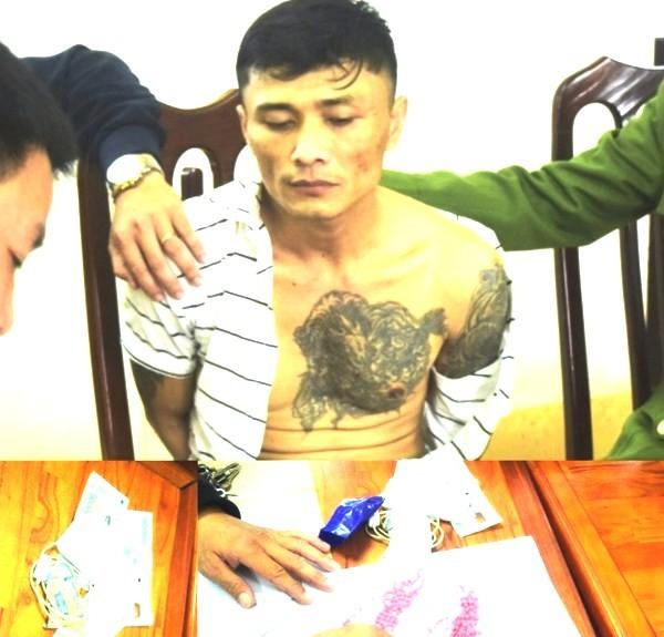 Cận cảnh công an bắt giữ đối tượng hung tợn tàng trữ hàng trăm viên ma túy ảnh 1