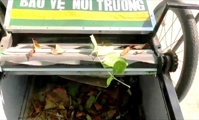Độc đáo xe gom rác mini tự chế giá thành dưới 1 triệu đồng của thầy giáo trường làng ảnh 7
