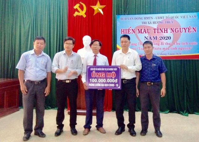 Thị xã Hương Thuỷ tỉnh TT-Huế sôi nổi hiến máu tình nguyện ảnh 5
