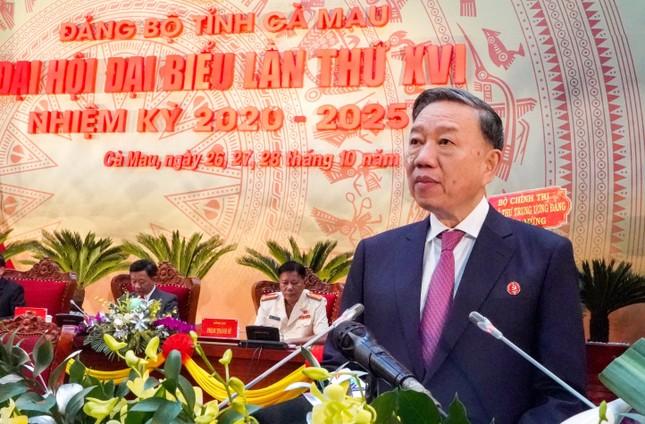 Đại tướng Tô Lâm: Đảng bộ tỉnh Cà Mau nghiêm túc, cầu thị, trách nhiệm ảnh 1