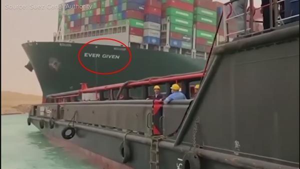 Vì sao tàu mắc kẹt ở kênh đào Suez có tên Ever Given, trong khi thân tàu có chữ Evergreen? ảnh 3
