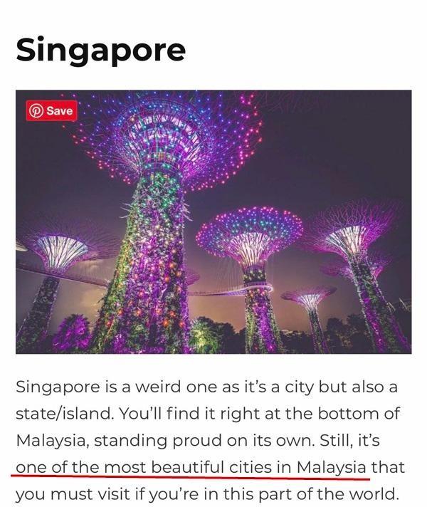 """Blogger du lịch nổi tiếng gây bất bình khi gọi Singapore là """"một thành phố của Malaysia""""  ảnh 2"""