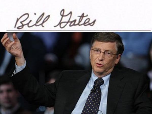 Chữ ký của những tỷ phú giàu nhất thế giới tiết lộ điều gì, chữ ký của bạn tương tự không? ảnh 4