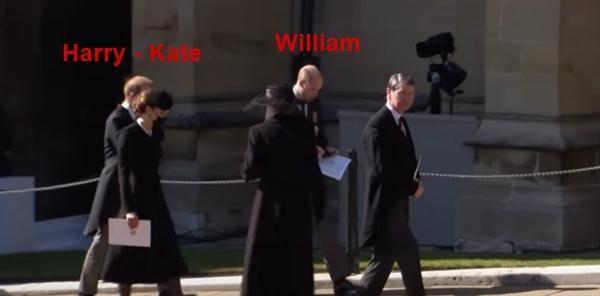 An lòng Hoàng thân Philip: Bộ ba Hoàng gia tái hợp, Kate giúp William và Harry trò chuyện ảnh 3