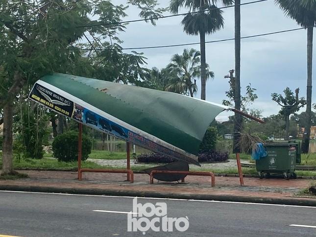 Thừa Thiên - Huế: Trạm xe buýt bị hư hại, cây xà cừ trăm tuổi bật gốc vì bão số 13 ảnh 6