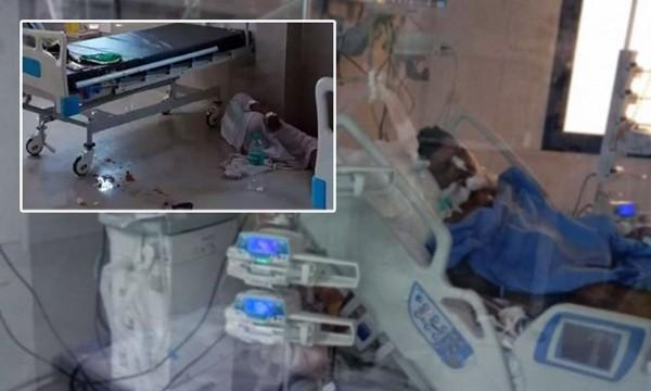 Bệnh nhân COVID-19 lăn từ trên giường xuống, làm ngắt nguồn oxy từ máy thở của chính mình ảnh 1