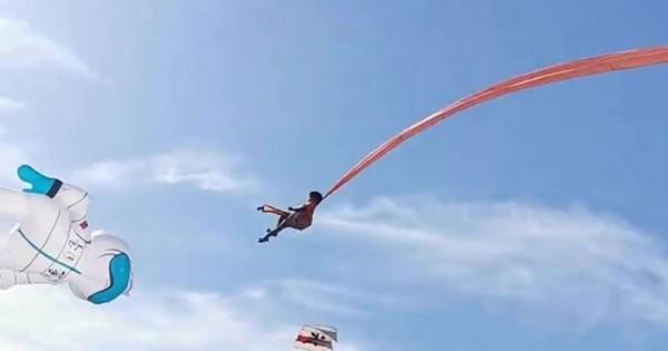 Tới lễ hội thả diều, cô bé 3 tuổi bị con diều khổng lồ mắc vào người, cuốn lên cao 30 mét ảnh 2
