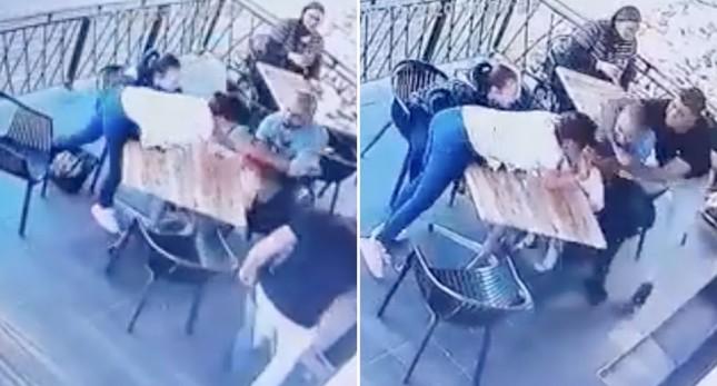 Liều lĩnh xông vào định bắt cóc bé gái 4 tuổi, nào ngờ bị mọi người xung quanh bắt tại chỗ ảnh 1