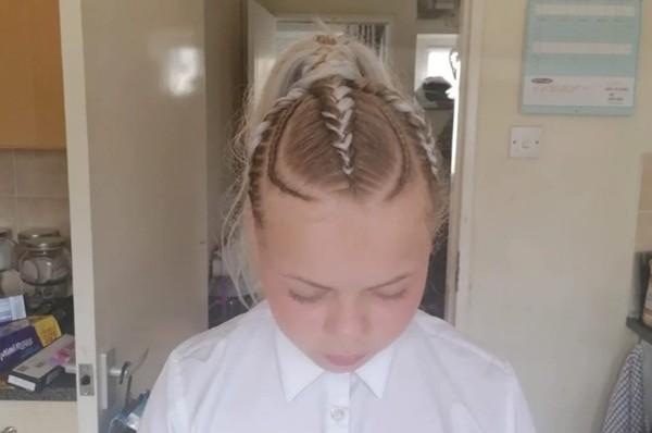 Chỉ nối tóc và tết tóc mà cũng bị nhà trường bắt gỡ ra, một học sinh nữ bật khóc vì ấm ức ảnh 2