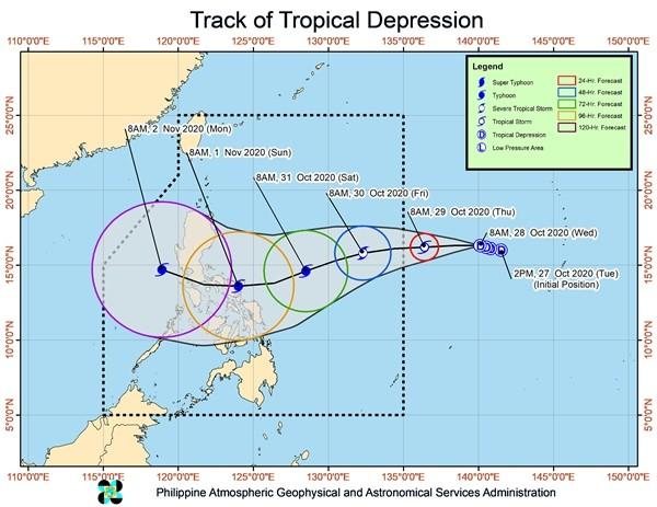 Sau bão Molave, áp thấp Rolly lại đang mạnh lên thành bão, có thể trở thành cơn bão số 10 ảnh 1