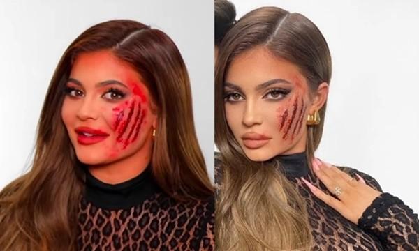 """""""Thánh chỉnh ảnh"""" Kylie Jenner lại bị chê vì hóa trang Halloween xong vẫn ra tay sửa tiếp ảnh 3"""