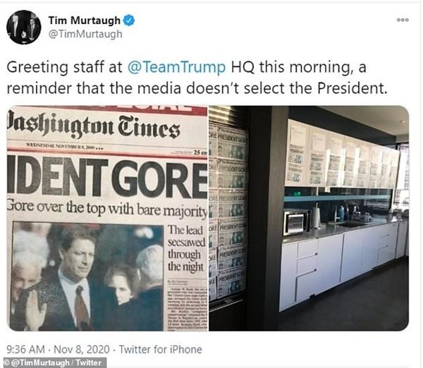 Không chấp nhận thua, đội ngũ của ông Trump liều lĩnh chỉnh sửa ảnh đăng lên mạng xã hội ảnh 1