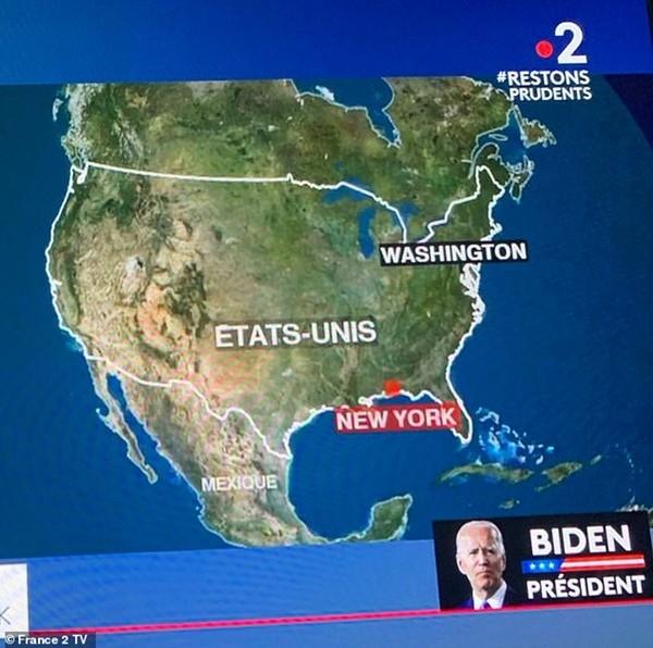 Nói về ông Trump và ông Biden, đội ngũ truyền hình căng thẳng đến mức nhầm vị trí New York ảnh 3