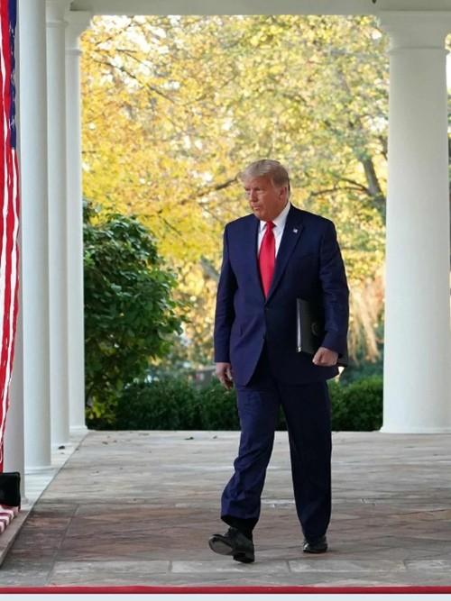 Tổng thống Donald Trump vừa phát biểu, nhiều người lại chỉ chú ý đến màu tóc của ông ảnh 3