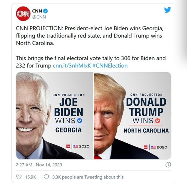 Sự trùng hợp kỳ lạ và khó tin về con số 306 trong kỳ bầu cử Tổng thống Mỹ năm 2016 và 2020 ảnh 1
