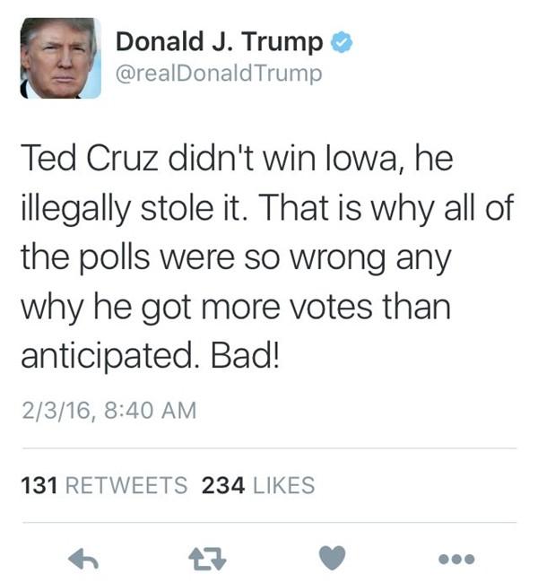 """Hóa ra Tổng thống Trump có """"thói quen"""" gọi mọi thứ là """"gian lận"""" nếu kết quả không như ý ảnh 2"""