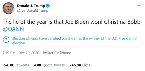 """Twitter """"thay đổi thái độ"""" với Tổng thống Trump: Gắn vào bài câu cảnh cáo mà ông ghét nhất ảnh 2"""
