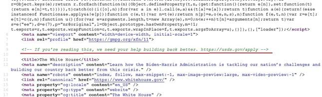 """""""Thông điệp bí mật"""" trên trang web Nhà Trắng sau khi ông Joe Biden nhậm chức Tổng thống Mỹ ảnh 2"""