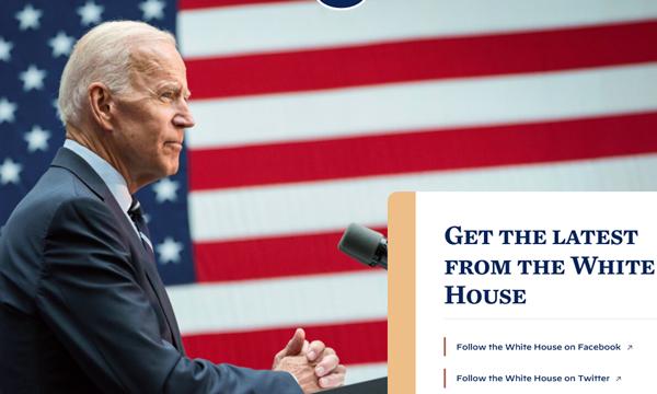 """""""Thông điệp bí mật"""" trên trang web Nhà Trắng sau khi ông Joe Biden nhậm chức Tổng thống Mỹ ảnh 1"""